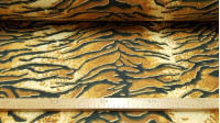 Felt Tiger fabric - Fine felt fabric printed with a pattern simulating the skin of the tiger. Ideal fabric especially for crafts and decoration. The felt does not fray and can be sewn, glued, glued ... This fabric is 90cm wide