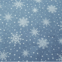 Cotton Christmas Forest Snowflakes