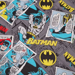 Cotton Batman Comic Gray