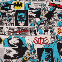 Cotton Batman Comic White