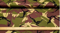 Cotton Twill Camouflage fabric - Strong cotton twill fabric with camouflage prints. The fabric is 150cm wide and its composition is 100% cotton.