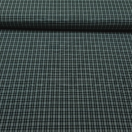 Gingham Black Drawing 2 fabric - Gingham fabric with white squares on a black background. Fabric with dark colors, type of mourning, for clothing in general. Also used for a typical