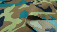 Stretch Camouflage fabric - Stretch fabric with camouflage print in green tones.