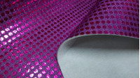 Foamized Sequin fabric - Large sequin fabric (6mm) with a layer of foam. The fabric is 110cm wide and its composition 50% polyester - 50% nylon