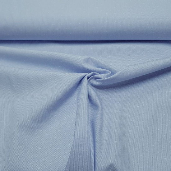 Cotton Thousand Stripes Blue fabric - Fine cotton fabric with a thousand blue stripes pattern, with