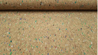 Cork Colors fabric - Cork fabric coloured widely used in technical crafts to make bags, wallets, decorations in florists... It is a thin fabric and on top a layer of flexible and manageable cork, making it an easy fabric to cut and sew.