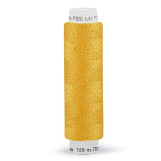Polyester Thread 100m fabric - Universal polyester thread of the Unipoly brand for sewing by machine or by hand. You can sew knitwear, linen, table linen, towels, blouses, shirts, bathing suits, baby clothes, home textiles... Its composition is 10