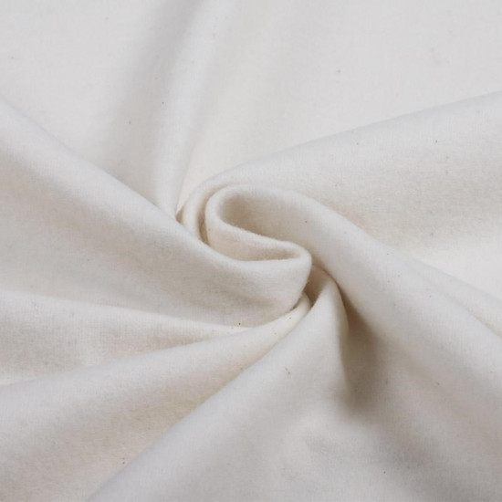 Flannel 240cm Width fabric - 100% cotton flannel fabric in white, ideal for creations that require a large width such as bedding. The fabric is 240cm wide and its composition is 100% cotton.
