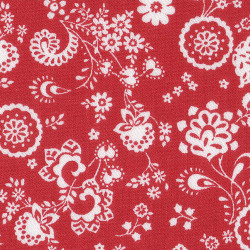 Viella Flowers Red White